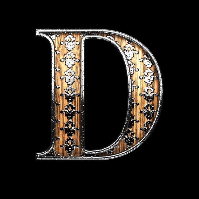 d silver letter. 3D illustration