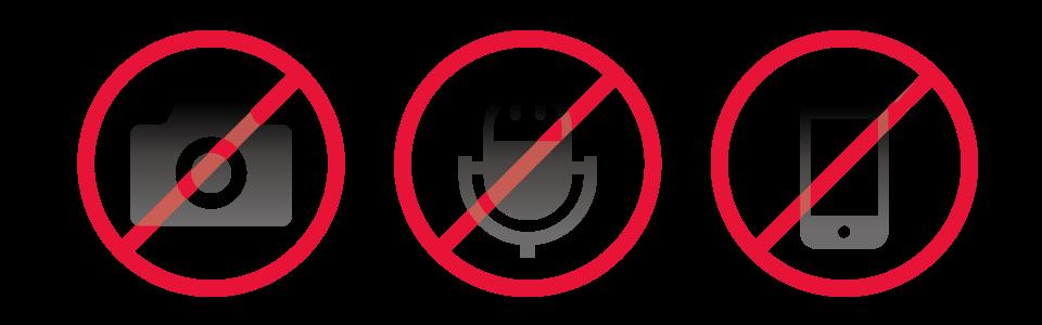 撮影・録画・録音禁止アイコン